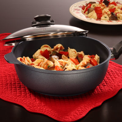 "Swiss Diamond Classic 9.5"" Covered Saute Aluminum Non-Stick Saute Pan"