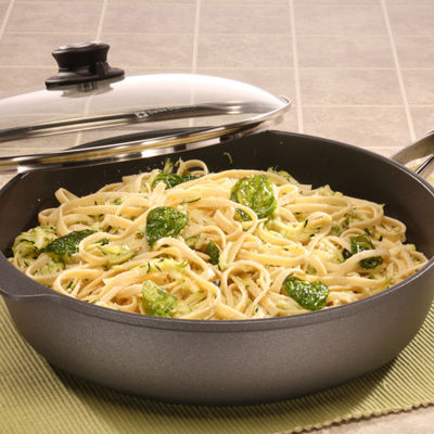 "Swiss Diamond Classic 12.5"" Covered Saute Aluminum Non-Stick Pan"