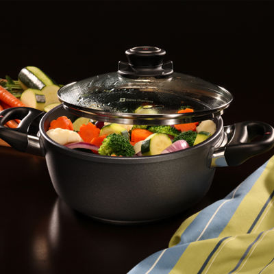 Swiss Diamond Classic 2.3-Qt. Covered Casserole Aluminum Non-Stick Dutch Oven