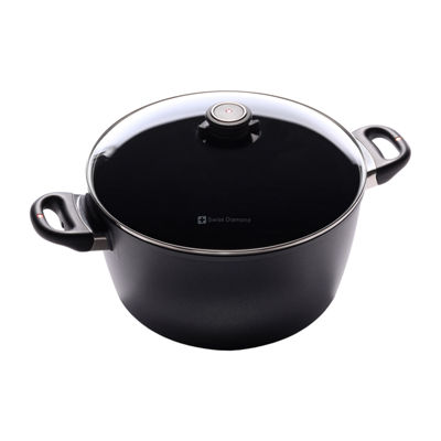 Swiss Diamond Classic 8.5-Qt. Covered Stockpot Aluminum Non-Stick Stockpot
