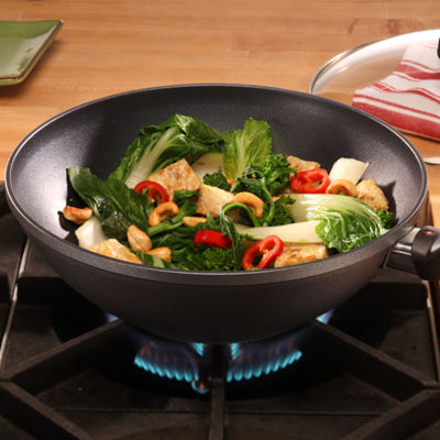 Swiss Diamond Classic 11in Covered Wok 2-pc. Aluminum Non-Stick Wok