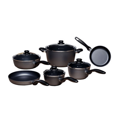 Swiss Diamond Classic 10-Pc. Cookware Set Aluminum Non-Stick Cookware Set