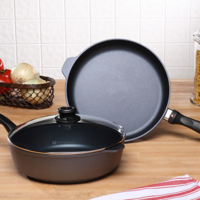 Swiss Diamond Classic 3-Pc. Fry Pan Set Aluminum Non-Stick Cookware Set