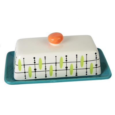 Studio California Luminescent Rectangular Butter Dish with Lid