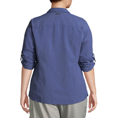Columbia® Amberley Stream Long Sleeve Shirt-Plus