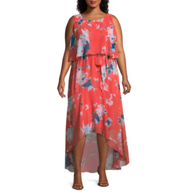 Melrose Sleeveless Floral Maxi Dress - Plus