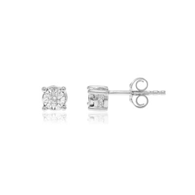 Tru Miracle 1/6 CT. T.W. Genuine White Diamond 10K Gold 4.7mm Stud Earrings