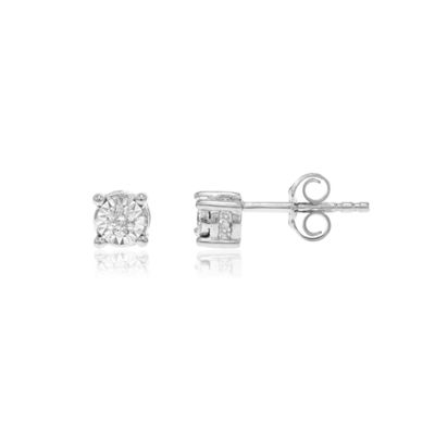 1/6 CT. T.W. Genuines White Diamond 10K Gold Stud Earrings