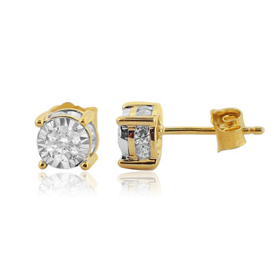 1 CT. T.W. Genuine White Diamond 14K Gold 6.2mm Stud Earrings
