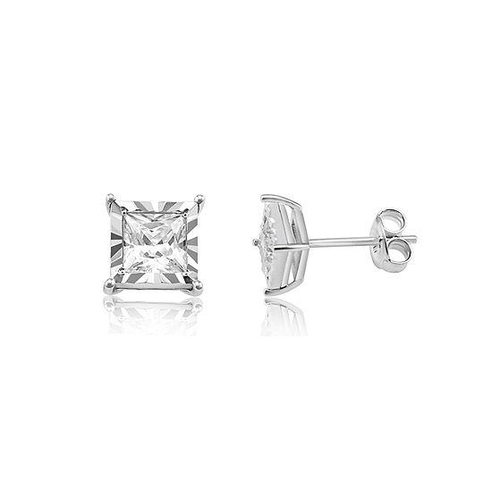 Tru Miracle 1 CT. T.W. Genuine White Diamond 10K Gold 5.7mm Stud Earrings