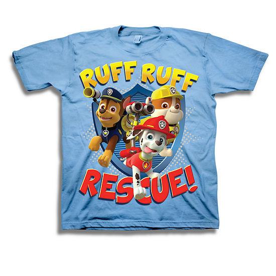 Nickelodeon Toddler Boys Graphic Tees Toddler Boys Crew Neck Paw Patrol Short Sleeve Graphic T-Shirt