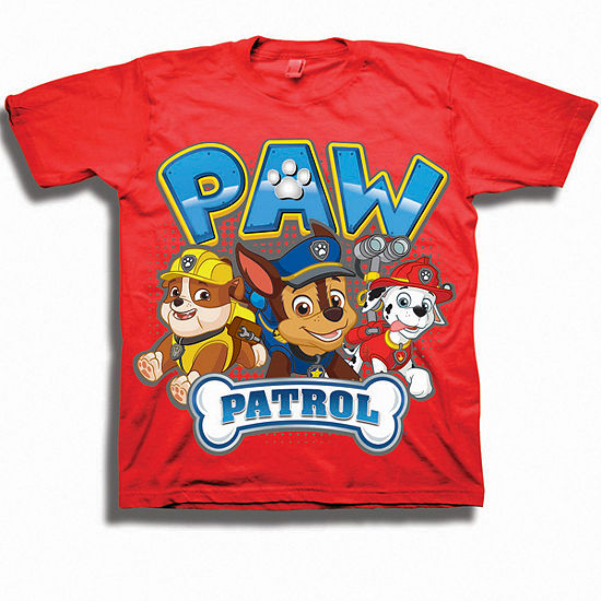 Nickelodeon Toddler Boys Graphic Tees Boys Crew Neck Short Sleeve Paw Patrol Graphic T-Shirt-Toddler