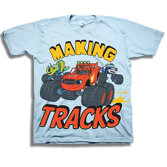 Nickelodeon Toddler Boys Graphic Tees Toddler Boys Crew Neck Blaze and The Monster Machines Short Sleeve Graphic T-Shirt