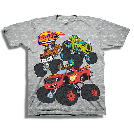 Disney Toddler Boys Graphic Tees Boys Crew Neck Short Sleeve Blaze and The Monster Machines Graphic T-Shirt-Toddler