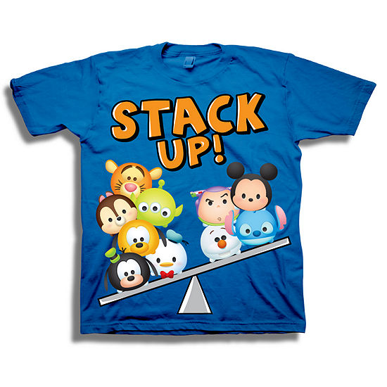 Tsum Tsum Boys Crew Neck Short Sleeve Tsum Tsum Graphic T-Shirt-Toddler