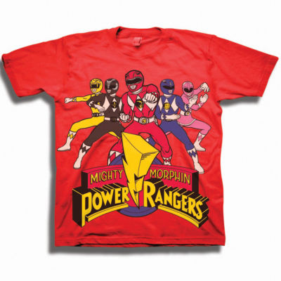 Power Rangers Toddler Boys Graphic Tees Boys Crew Neck Short Sleeve Power Rangers Graphic T-Shirt-Toddler