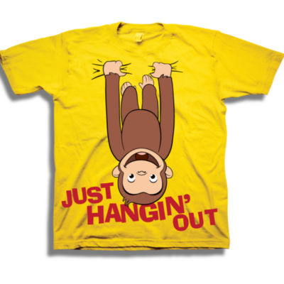 Curious George Toddler Boys Graphic Tees Boys Crew Neck Short Sleeve Curious George Graphic T-Shirt-Toddler