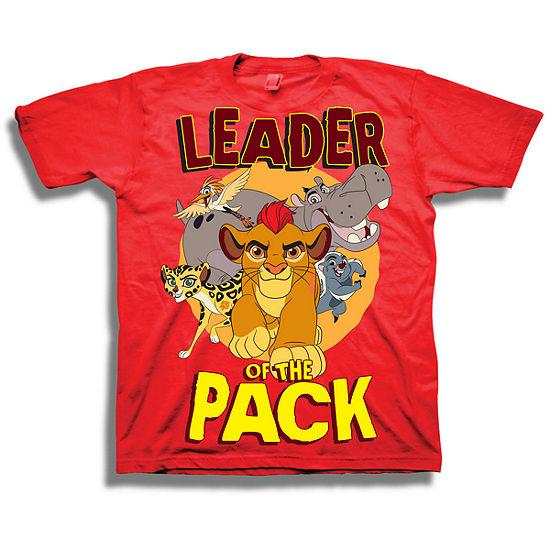 Disney Toddler Boys Graphic Tees Boys Crew Neck Short Sleeve Lion Guard Graphic T-Shirt-Toddler