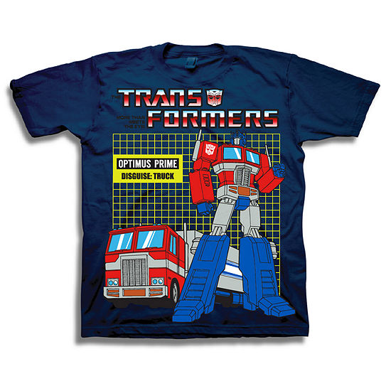 Boys Crew Neck Short Sleeve Transformers Graphic T-Shirt-Toddler