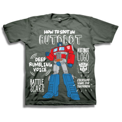 Toddler Boys Graphic Tees Boys Crew Neck Short Sleeve Transformers Graphic T-Shirt-Toddler