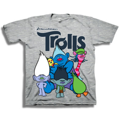 Toddler Boys Graphic Tees-Toddler Boys Crew Neck Trolls Short Sleeve Graphic T-Shirt