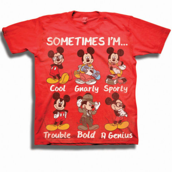 Toddler Boys Graphic Tees Mickey Mouse Graphic T-Shirt-Toddler Boys