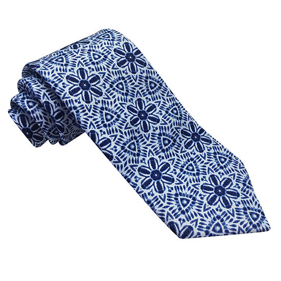 Stafford Stf Broadcloth Spinner Medallion Tie