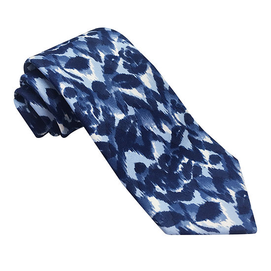 Stafford Stf Broadcloth Spinner Floral Tie