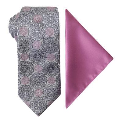 Steve Harvey Medallion Tie Set