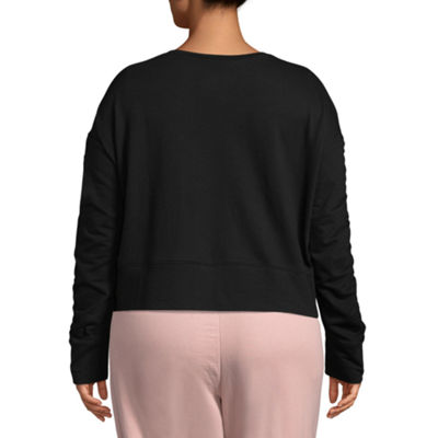Flirtitude Ruched Sweatshirt - Juniors Plus