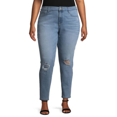 Arizona Super High Rise Skinny Fit Ankle Pant-Juniors Plus