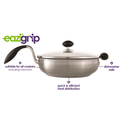 """Eazigrip 10"""" Stainless Steel Non Stick Sauté Pan With Ergonomic Handle"""