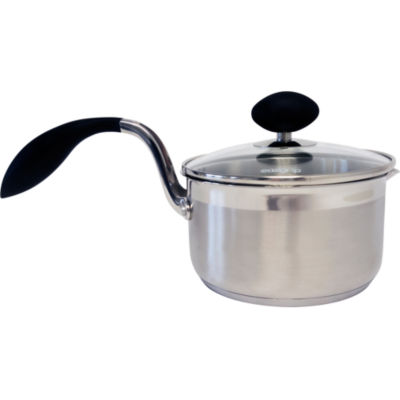 """""""Eazigrip 1.5-Qt. Stainless Steel Non Stick Covered Saucepan With Ergonomic Handle And Colander Lid"""""""