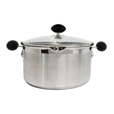 """""""Eazigrip 5-Qt. Stainless Steel Non Stick Covered Stock Pot With Ergonomic Handle And Colander Lid"""""""