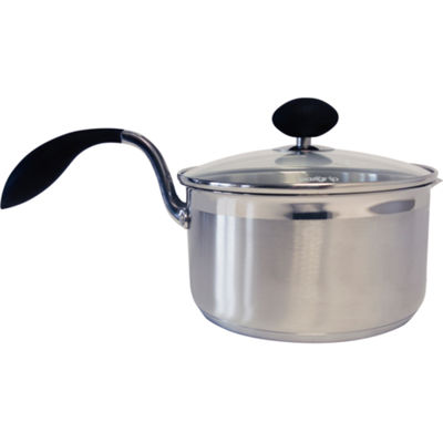 """Eazigrip 3-Qt. Stainless Steel Non-Stick Covered Saucepan With Ergonomic Handle And Colander Lid"""