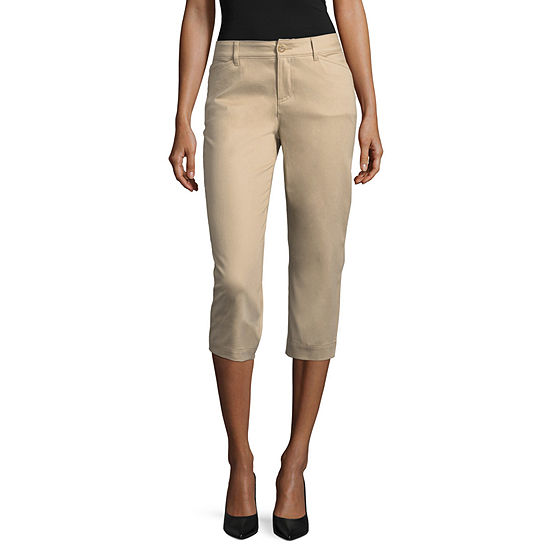 St. John's Bay Classic Stretch Fabric Secretly Slender Capris