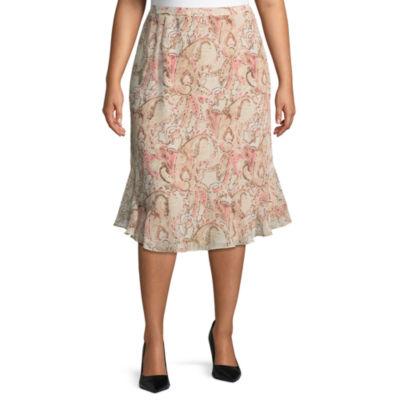 Alfred Dunner La Dolce Vita Paisley Skirt- Plus
