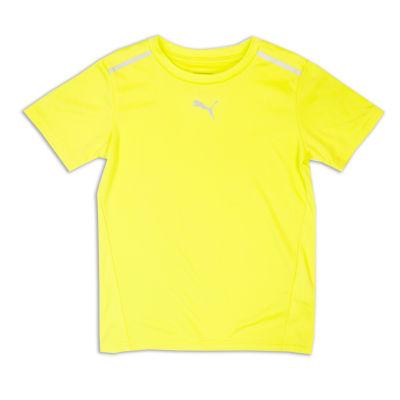 Puma Short Sleeve Crew Neck T-Shirt-Preschool Boys