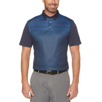 PGA TOUR Easy Care Short Sleeve Pattern Polo Shirt
