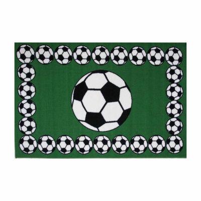 Soccer Time Rectangular Indoor Rugs