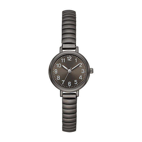Opp Table Womens Gray Stainless Steel Expansion Watch-Fmdjo147