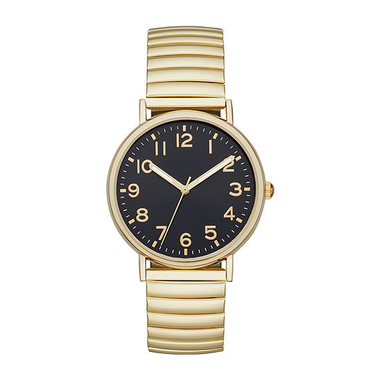 Opp Table Mens Gold Tone Expansion Watch-Fmdjo149
