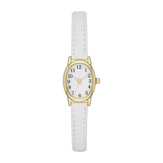 Opp Table Womens White Strap Watch-Fmdjo152