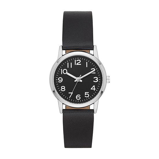 Opp Table Womens Black Strap Watch-Fmdjo154