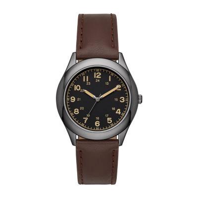 Opp Table Mens Brown Strap Watch-Fmdjo156
