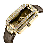JBW Genuine Diamond Accent Womens Diamond Accent Brown Leather Strap Watch-J6358l-A