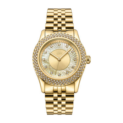 JBW 12 Diamonds/ .12 Ctw Womens Gold Tone 3-pc. Watch Boxed Set-J6368a