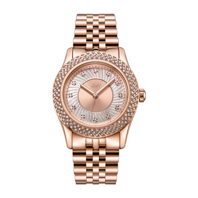 JBW 12 Diamonds/ .12 Ctw Womens Rose Goldtone 3-pc. Watch Boxed Set-J6368b