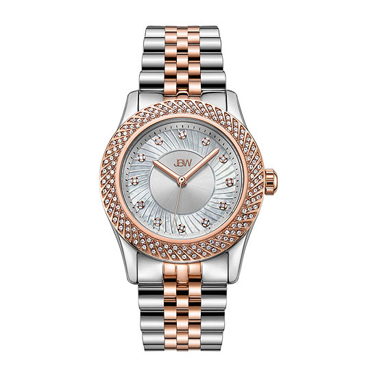 JBW 12 Diamonds/ .12 Ctw Womens Two Tone 3-pc. Watch Boxed Set-J6368c