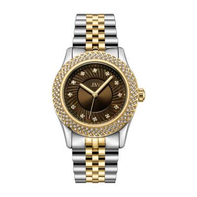 JBW 12 Diamonds/ .12 Ctw Womens Two Tone 3-pc. Watch Boxed Set-J6368e